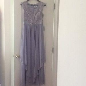 🆕 ELIZA J purple gray lace gown- size 6